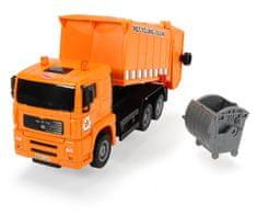 DICKIE Auto Truck Heavy City 22 cm, pomarańczowy