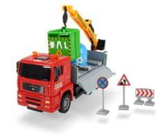 DICKIE Auto Truck Heavy City 22 cm, czerwony