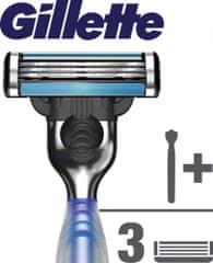 Gillette Mach3 Start Rukoväť k holiacemu strojčeku + 3 hlavice