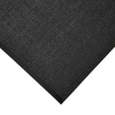 Černá protiskluzová protiúnavová průmyslová pěnová rohož 01 - 0,9 cm