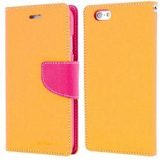 Goospery preklopna torbica Fancy Diary za Samsung Galaxy A3 A300, rumeno roza