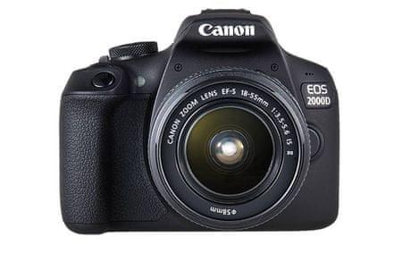 Canon fotoaparat EOS 2000D z objektivom EF-S 18-55 IS