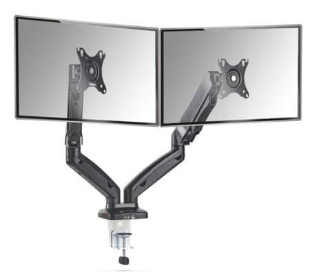 """VonHaus dvojni namizni nosilec za monitor do diagonale 68,6 cm (27""""), USB"""