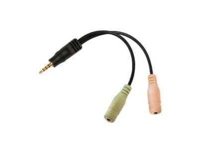 LogiLink avdio kabel 3,5 mm jack, M-Ž, 0,15 m