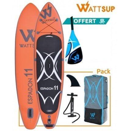 WattSup daska SUP na napuhavanje WattSup Espadon 11, 335 x 81 x 15 cm