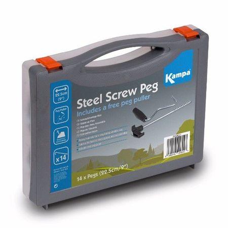 Kampa set klinov Steel Screw Peg Pack