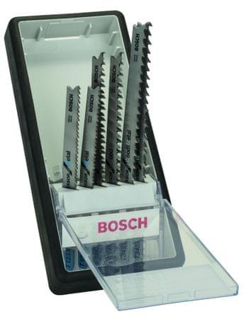 Bosch 6-delni komplet listov za vbodne žage Robust Line progressor, T-steblo (2607010531)