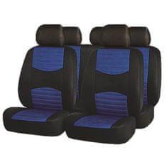 FINISH LINE navlake za sjedala, 11 dijelova, crno-plave