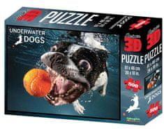 Underwater dogs sestavljanka 3D pes Rocco 500 kosov