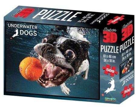 Underwater Dogs slagalica 3D pas Rocco 500 komada