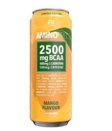 AminoPRO napitek BCAA, 330 ml, mango, 24 pločevink