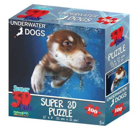 Underwater Dogs slagalica 3D pas Hunter 100 komada