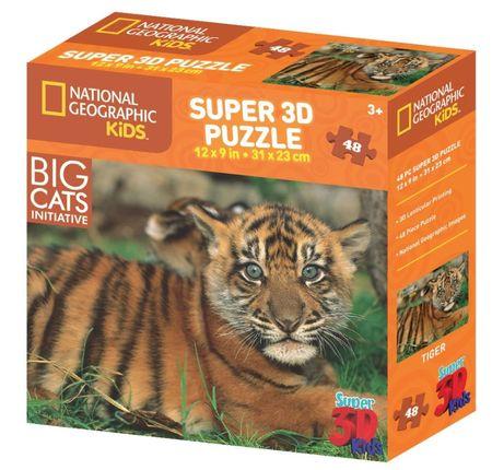 National Geographic slagalica 3D tigar 48 komada
