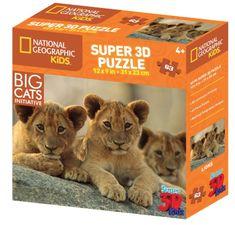 National Geographic slagalica 3D afrički lavovi 63 komada