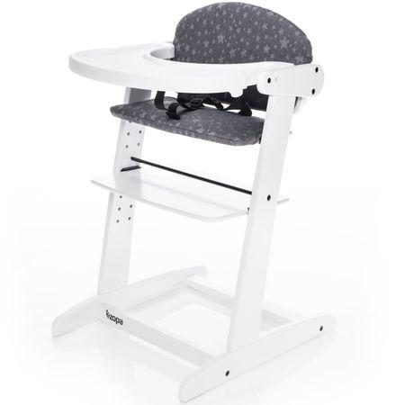 ZOPA Rostoucí jídelní židlička GROW UP - white