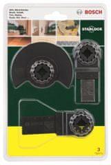 """Bosch 3-delni začetni komplet Starlock """"Les"""" za večnamenska orodja (2607017323)"""