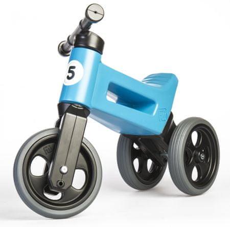 Teddies Funny Wheels New Sport 2 az 1-ben pedál nélküli gyerekkerékpár, kék
