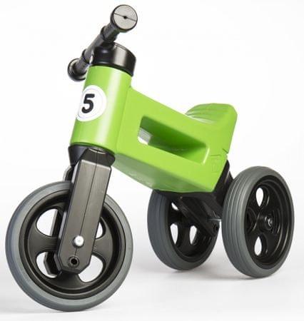 Teddies Funny Wheels New Sport 2 az 1-ben pedál nélküli gyerekkerékpár, zöld
