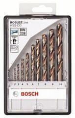 Bosch 10-dijelni komplet svrdala za metal Robust Line HSS-Co (2607019925)