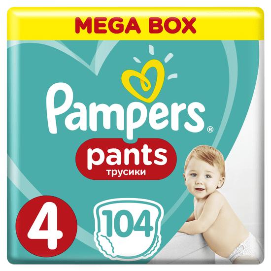Pampers Plenkové kalhotky Pants 4 Maxi (9-15 kg) Mega Box 104 ks