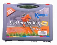 Kampa set klinov Steel Screw In Peg, 20,5 cm