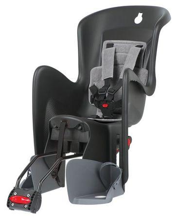 POLISPORT fotelik rowerowy Bilby RS, czarny/szary