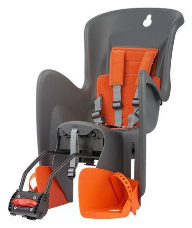 POLISPORT Bilby RS vázra szerelhető gyerekülés szürke/narancssárga