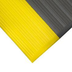 Šedo-žlutá protiskluzová protiúnavová průmyslová pěnová rohož - 0,9 cm