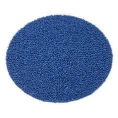FLOMAT Modrá protiskluzová sprchová kulatá rohož Spaghetti - 54 x 1,2 cm