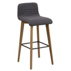 Design Scandinavia Barová stolička Areta (Súprava 2 ks), antracit