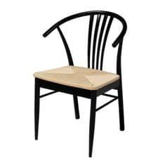 Danish Style Jedálenská stolička Navy (Súprava 2 ks), čierna