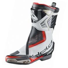 Held sportovní moto boty NEWTON (BOA systém), bílá/černá, klokaní/hovězí kůže+kevlar
