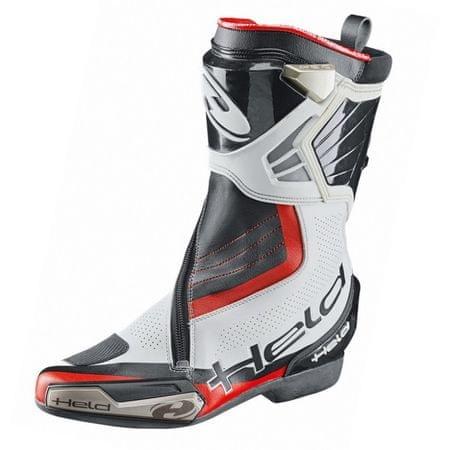 Held športové moto topánky NEWTON (BOA systém) vel.42, biela/čierna, klokanej/hovädzie kože + kevlar