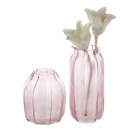 Papillon Váza sklenená Organic, 25 cm, ružová