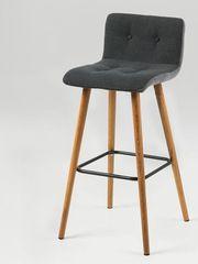 Design Scandinavia Barová stolička Fredy (Súprava 2 ks), tmavosivá