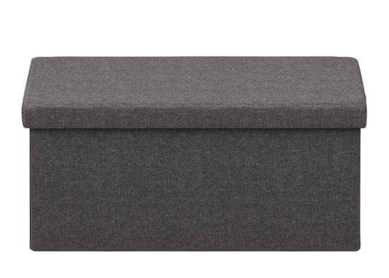 Design Scandinavia Taburetka s víkem skládací Simon, 80 cm, tmavě šedá