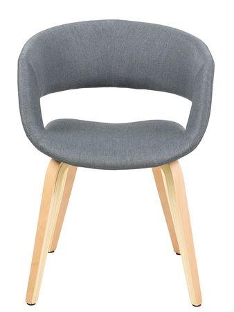 Design Scandinavia Jídelní židle Garry s dřevěnou podnoží tmavě šedá
