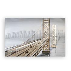 Papillon 3D obraz Bridge 150 cm, olej na plátne