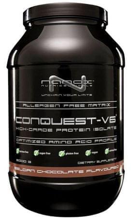 Nanox veganski protein Conquest V6, čokolada, 900 g