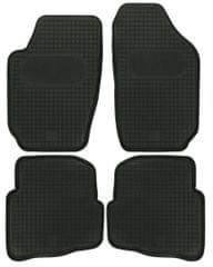 POLGUM Gumové koberce, súprava 4 ks, čierne, pre vozidlá Seat Cordoba a Ibiza, Škoda Fabia a VW Polo