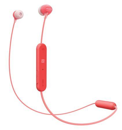 SONY WI-C300 Vezeték nélküli fülhallgató, piros