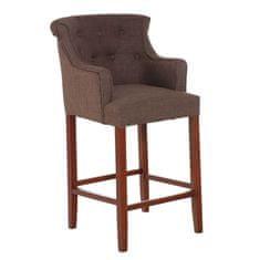 BHM Germany Barová židle s područkami Sylko, hnědá podnož