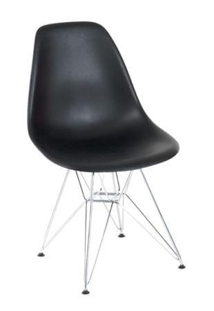 shumee P016 PP szék fekete, króm lábakkal