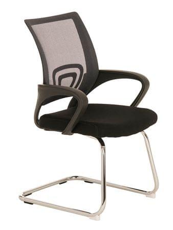 BHM Germany Konferenční židle s područkami Wizard, šedá