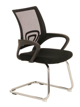 BHM Germany Konferenční židle s područkami Wizard, černá