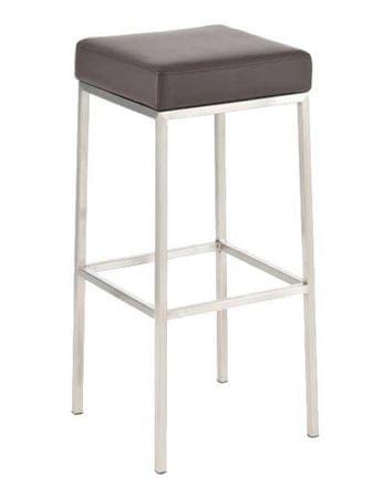 BHM Germany Barová židle s nerezovou podnoží Frankie, hnědá