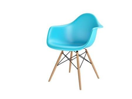 Mørtens Furniture Jídelní židle s dřevěnou podnoží Blom, světle modrá