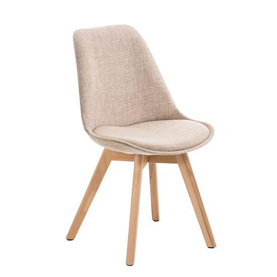 BHM Germany Konferenční / jídelní židle Lenora textil (SET 2 ks), krémová