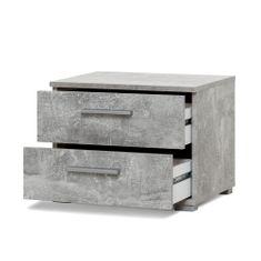 FARELA Nočný stolík s 2 zásuvkami Nora, 35 cm, betón