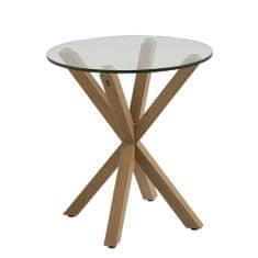 Design Scandinavia Konferenčný / nočný stolík Skyline, 50 cm, dub/číra